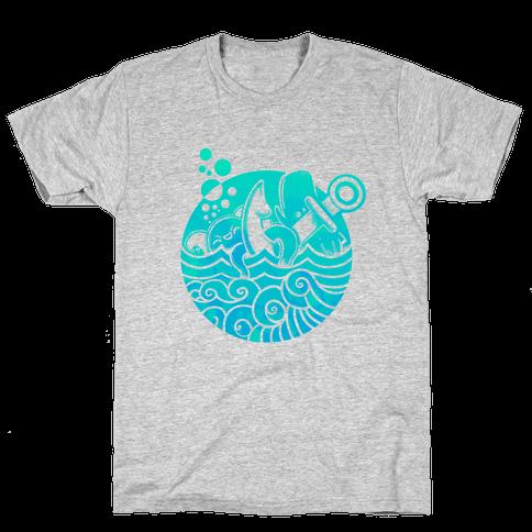 Aqua Friends, Octopus & Whale Mens T-Shirt