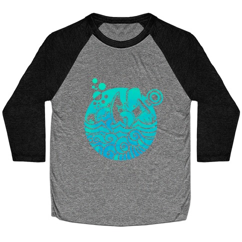 Aqua Friends, Octopus & Whale Baseball Tee