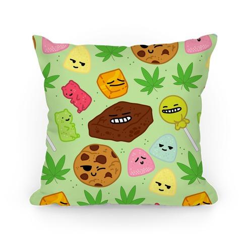Edibles Pattern Pillow