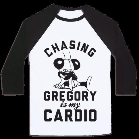 Chasing Gregory Is My Cardio Baseball Tee