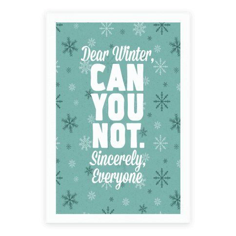 Dear Winter Poster