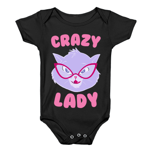 Crazy Cat Lady Baby Onesy