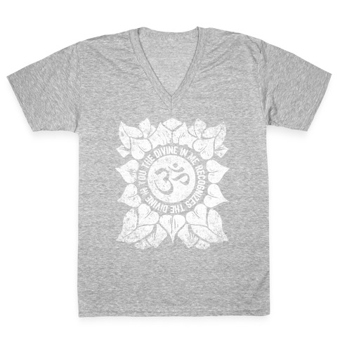 The Divine In Me Recognizes The Divine In You V-Neck Tee Shirt