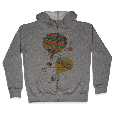 Balloon Flight Zip Hoodie