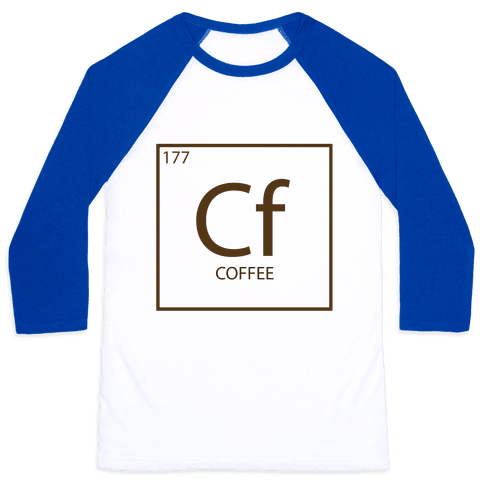 Coffee Science Baseball Tee