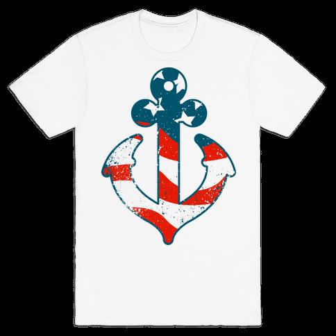 American Anchor Mens T-Shirt