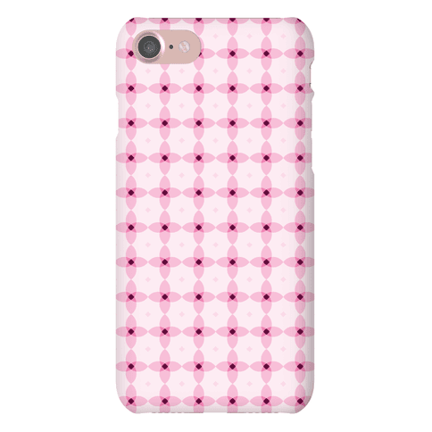 Pink Geometric Flower Pattern Phone Case