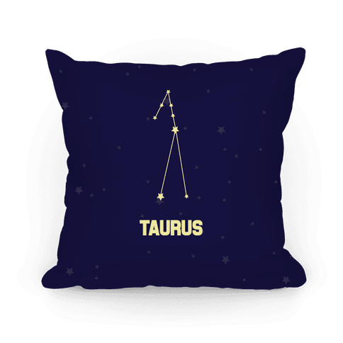 Taurus Horoscope Sign Pillow