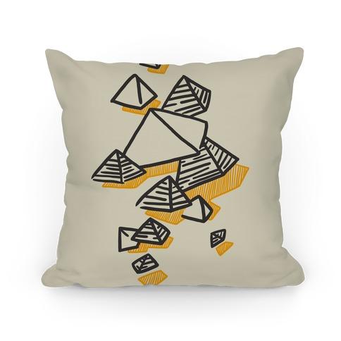 Geometric Pyramids Pillow