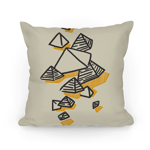 Geometric Pyramids Pillow