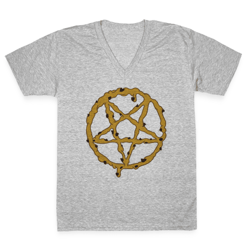 Cookie Dough Pentagram V-Neck Tee Shirt