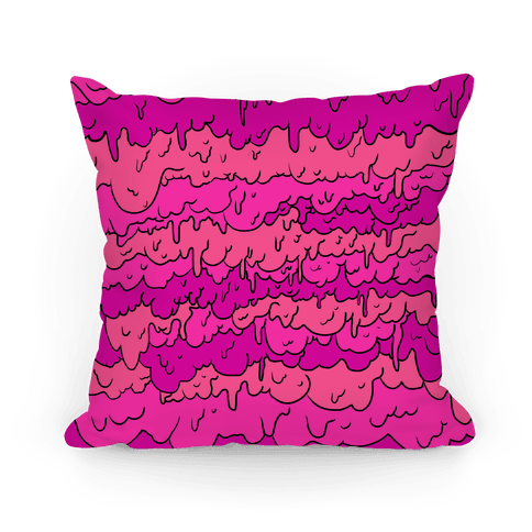 Slimy Purple Pillow Pillow