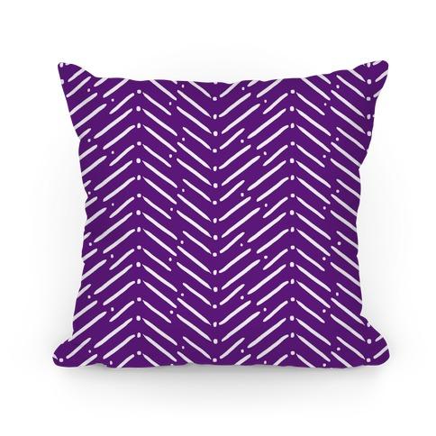 Purple Tribal Doodle Pattern Pillow