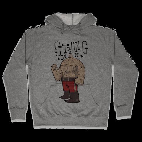 Strong Man Hooded Sweatshirt