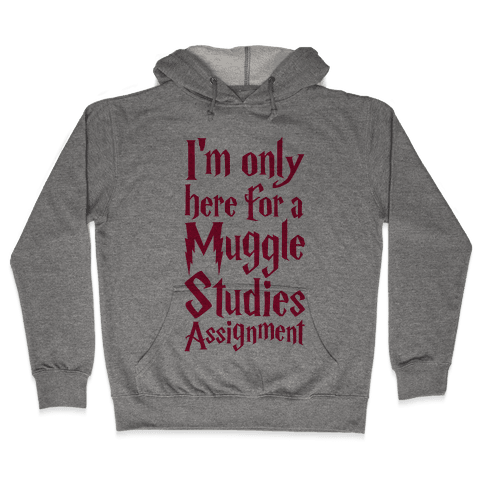 I'm Only Here For A Muggle Studies Assignment Hooded Sweatshirt
