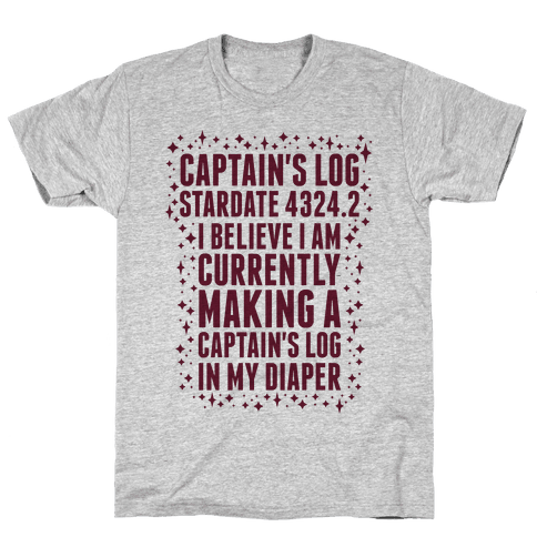 Captain's Log Mens T-Shirt