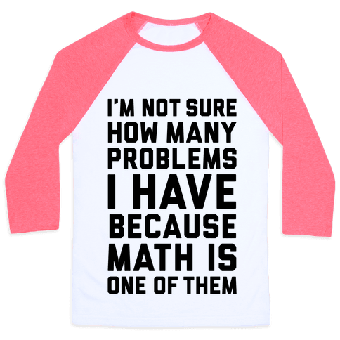 Math Problems Baseball Tee