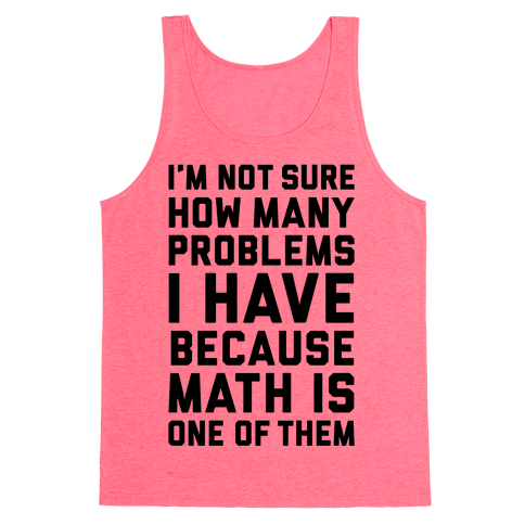 Math Problems Tank Top