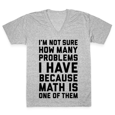 Math Problems V-Neck Tee Shirt