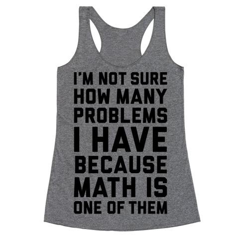 Math Problems Racerback Tank Top