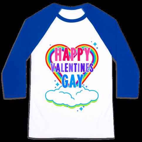 Happy Valentines Gay Baseball Tee
