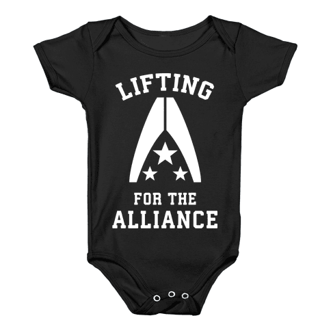 Lifting For The Alliance Baby Onesy