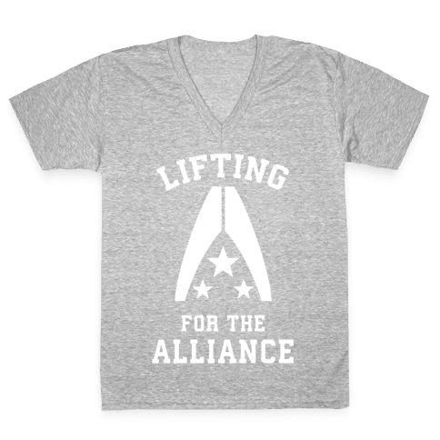 Lifting For The Alliance V-Neck Tee Shirt