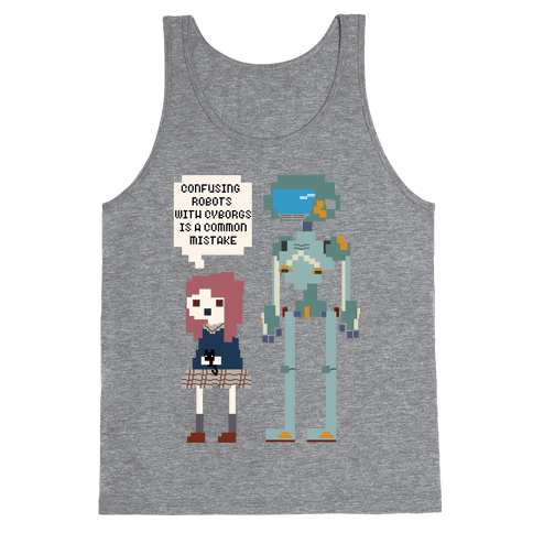 Confusing Robots With Cyborgs Tank Top