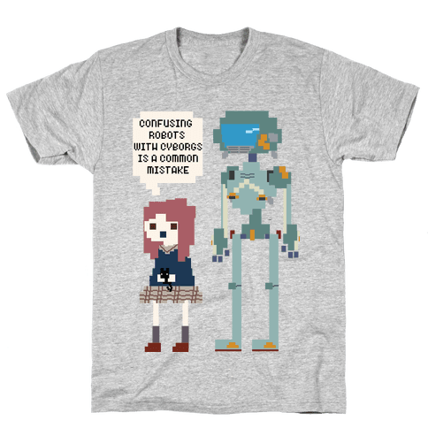 Confusing Robots With Cyborgs Mens T-Shirt
