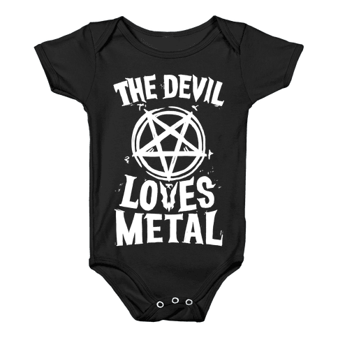 The Devil Loves Metal Baby Onesy