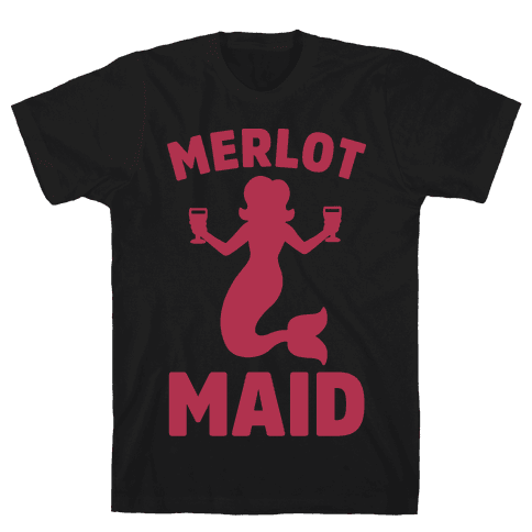 Merlot Maid Mens T-Shirt