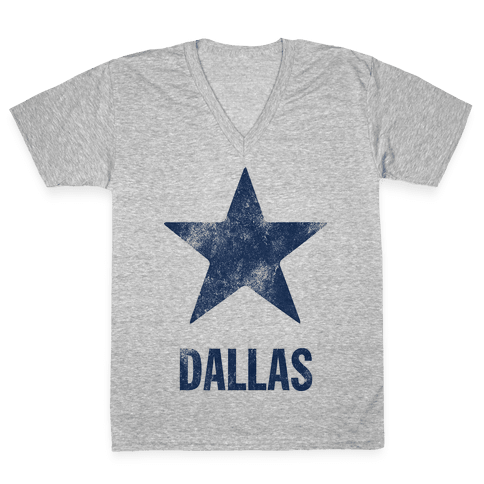 Dallas Alternate (Vintage) V-Neck Tee Shirt