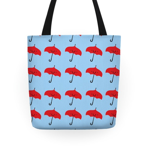 Cute Red Umbrella Pattern Tote