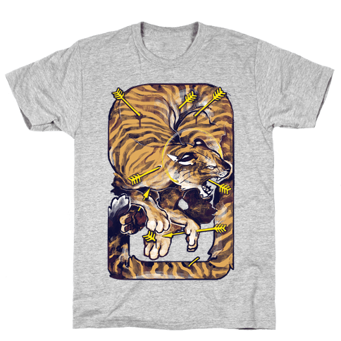 Saint Sebastian Tiger Mens T-Shirt