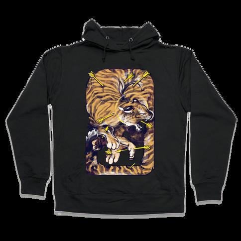 Saint Sebastian Tiger Hooded Sweatshirt