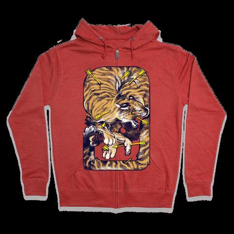 Saint Sebastian Tiger Zip Hoodie