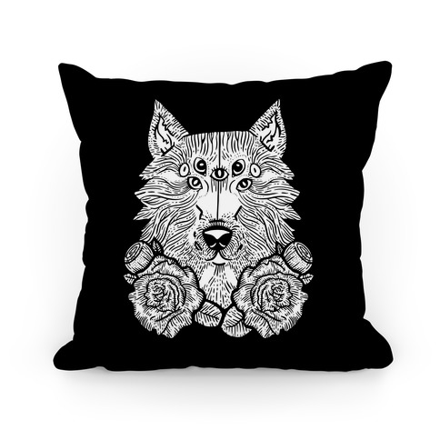 Seven Eyed Wolf Pillow