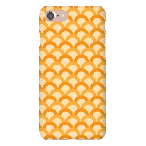 Orange Scale Pattern Phone Case