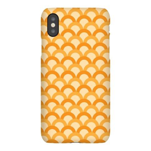 Orange Scale Pattern Phone Case