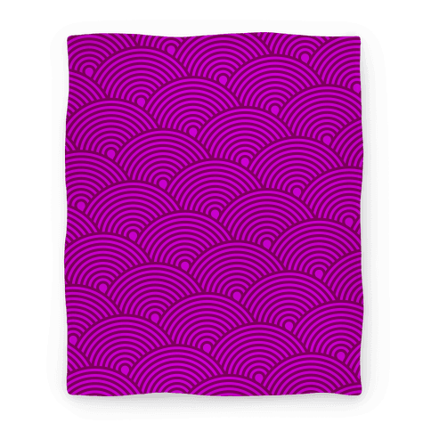 Scale Pattern Blanket (Pink)