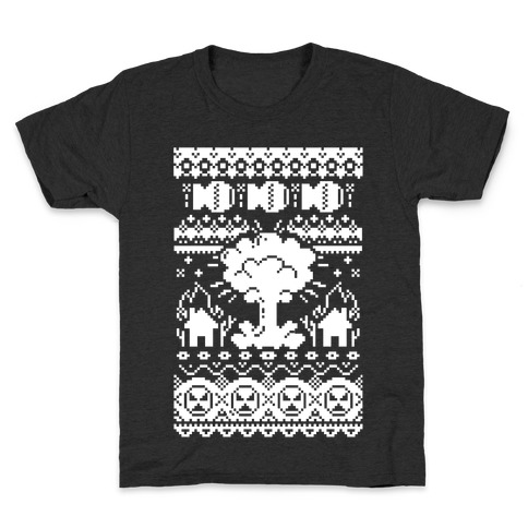 Nuclear Christmas Sweater Pattern Kids T-Shirt
