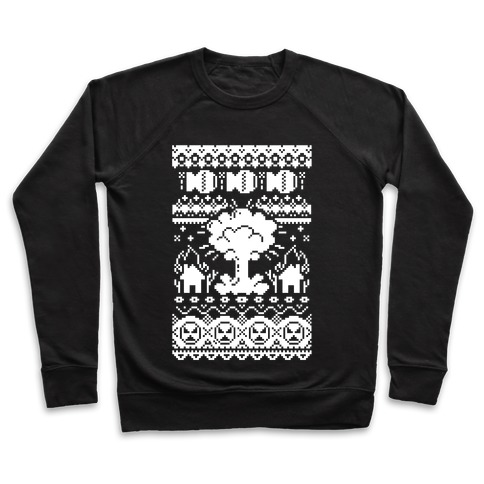 Nuclear Christmas Sweater Pattern Crewneck Sweatshirt Lookhuman
