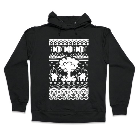 Nerdy Christmas Sweater.Nuclear Christmas Sweater Pattern Hoodie Lookhuman