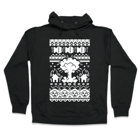 Nuclear Christmas Sweater Pattern Hooded Sweatshirt