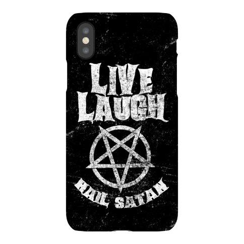 Live Laugh Hail Satan Phone Case