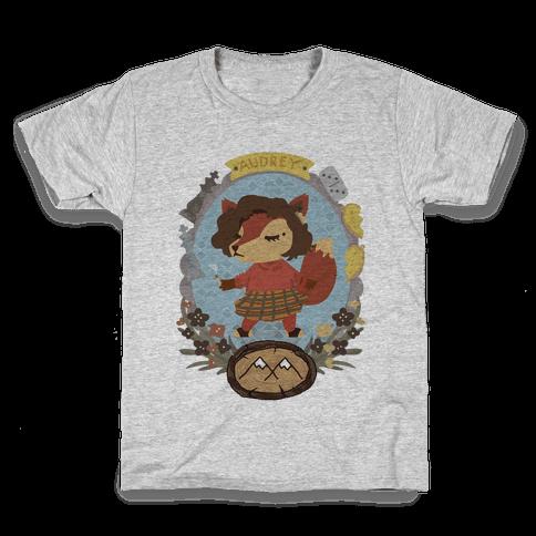 Audrey Horn Fox Kids T-Shirt