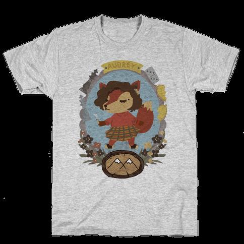 Audrey Horn Fox Mens T-Shirt