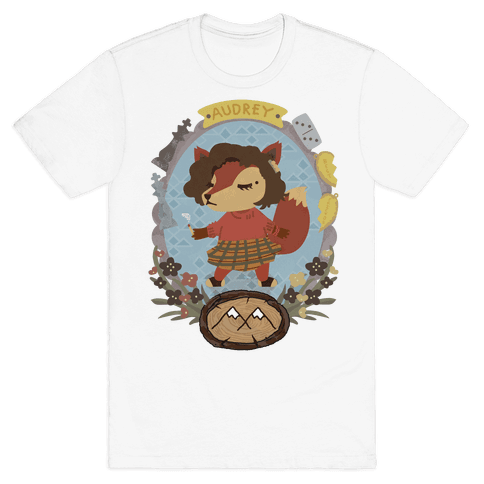 Audrey Horn Fox Mens T-Shirt