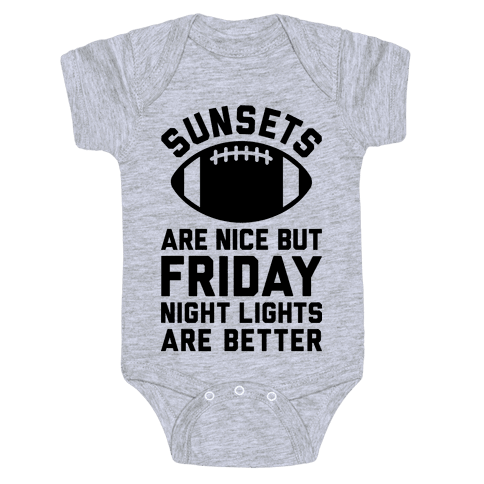 Sunsets And Friday Night Lights Baby Onesy