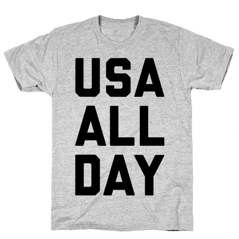 USA All Day Mens T-Shirt